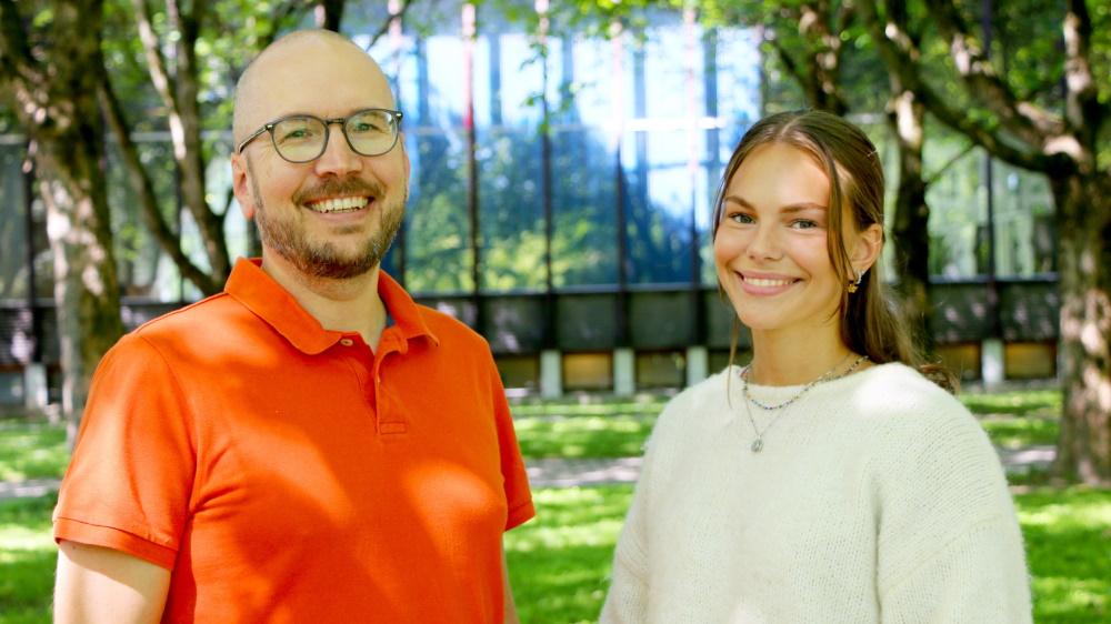 Øistein Anmarkrud og Anna Anmarkrud. Foto.