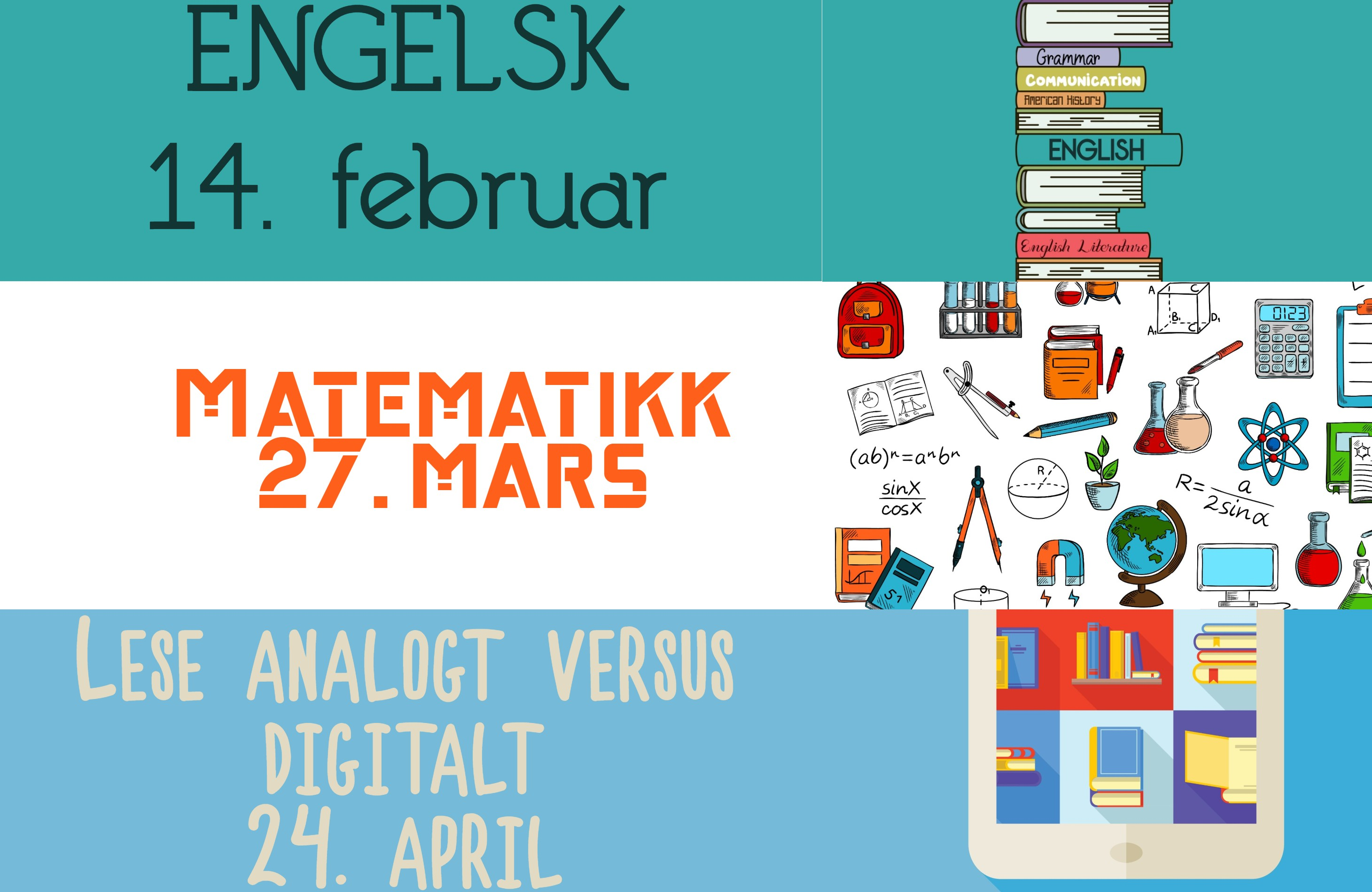 Datoer for faglig frokost. 14. februar, 27. mars og 24. april