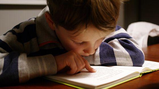 Bildet kan inneholde: person, ansikt, skriveinstrument tilbehør, hjemmelekser, bok.