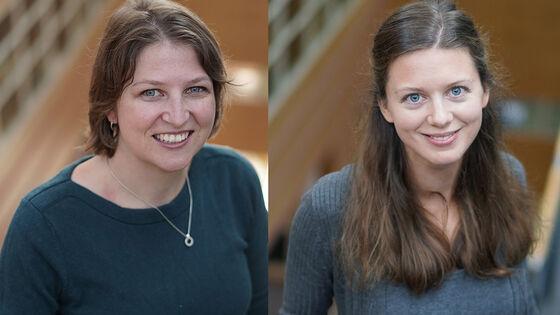 Astrid Marie Jorde Sandsør og Nora E.H Mathé. Foto